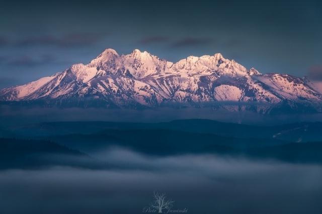 Tatry przed wschodem słońca