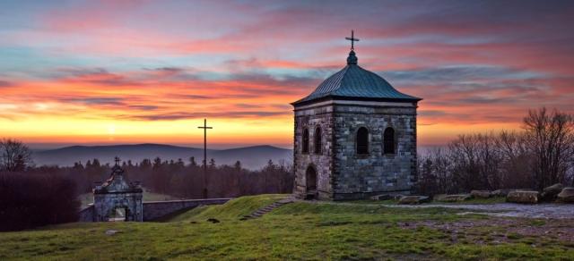 Wschód słońca ze Św. Krzyża